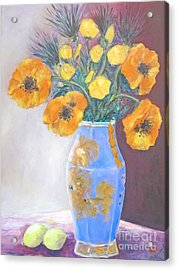 Still  Life With Blue Vase Acrylic Print by Barbara Anna Knauf