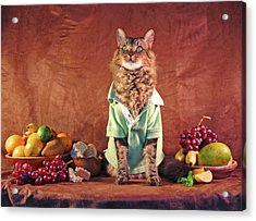Still Life With Cat Acrylic Print