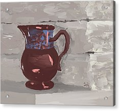 Still Life With Copper Luster Jug Acrylic Print by Sarah Countiss