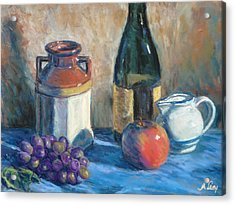 Still Life With Crock And Apple Acrylic Print by Michael Camp