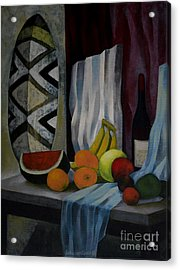 Still Life With Fruit Acrylic Print by Jukka Nopsanen