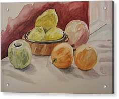 Still Life With Fruits Acrylic Print by Kate Partali