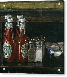 Still Life With Ketchup Acrylic Print by Ted Papoulas