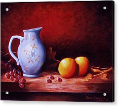 Still Life With Oranges  Acrylic Print by Gene Gregory