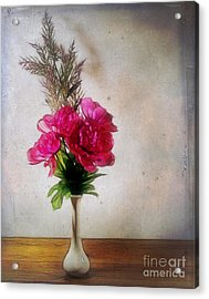 Still Life With Texture Acrylic Print by Judi Bagwell