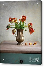 Still Life With Tulips Acrylic Print by Nailia Schwarz