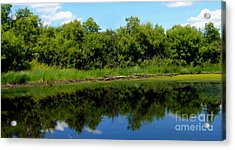 Acrylic Print featuring the photograph Still Water by Jim Sauchyn