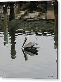 Still Waters Acrylic Print by Deborah Hughes