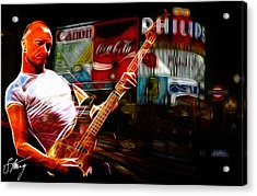 Sting In Concert Acrylic Print by Steve K