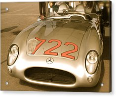 Acrylic Print featuring the photograph Stirling Moss 1955 Mille Miglia 722 Mercedes by John Colley