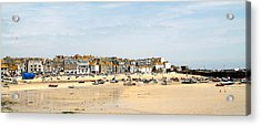 St.ives Bay.cornwall Acrylic Print by Karen Grist