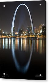 St.louis Arch Reflection Acrylic Print by Shane Psaltis