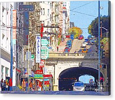 Stockton Street Tunnel In San Francisco . 7d7355 Acrylic Print by Wingsdomain Art and Photography