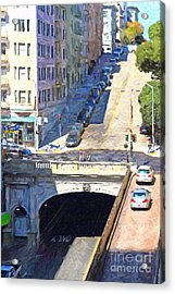 Stockton Street Tunnel Midday Late Summer In San Francisco Acrylic Print by Wingsdomain Art and Photography