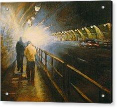 Stockton Tunnel Acrylic Print by Meg Biddle