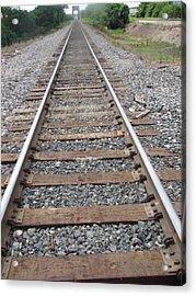 Acrylic Print featuring the photograph Stockyard Railroads by Shawn Hughes