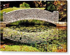 Stone Bridge Acrylic Print by HD Connelly