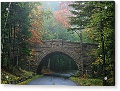 Stone Bridge Acrylic Print by Mary Hershberger