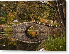 Stone Bridge Reflection Acrylic Print by Graeme Knox