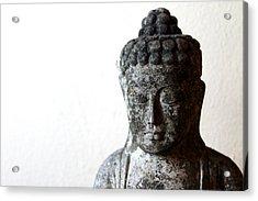 Stone Buddha Acrylic Print by Janita Topan