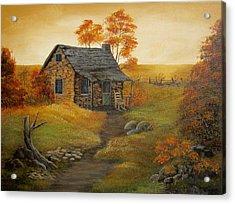 Stone Cabin Acrylic Print by Kathy Sheeran