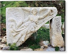 Stone Carving Of Nike Acrylic Print
