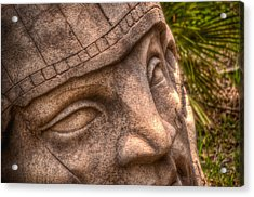 Acrylic Print featuring the photograph Stone Face by Joetta West