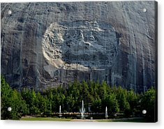 Stone Mountain   The Carving Acrylic Print by George Bostian