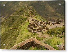 Stone Ruins At Pisac National Park,sacred Valley Of The Incas Acrylic Print by Ralph Hopkins
