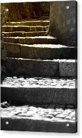 Acrylic Print featuring the photograph Stone Steps by Emanuel Tanjala