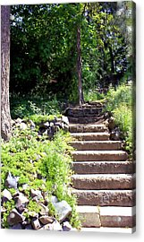Stone Steps Acrylic Print by Myrna Migala