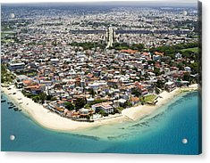 Stone Town Of Zanzibar Is The Cultural Acrylic Print by Michael Fay