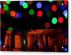 Stonehenge In Starry Night Acrylic Print by Paul Ge