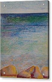 Stones By The Sea Acrylic Print by Taruna Rettinger