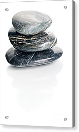 Stones Acrylic Print by HD Connelly