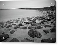Stones In North Sea In Germany Acrylic Print by by Felix Schmidt