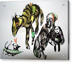 Stop Doggin' Around Acrylic Print by Aquira Kusume