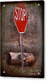 Stop Firewood Transport Acrylic Print by The Stone Age