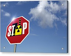 Stop Nuclear Power, Conceptual Artwork Acrylic Print by Detlev Van Ravenswaay