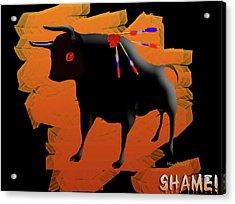 Stop Violence Acrylic Print by Asok Mukhopadhyay
