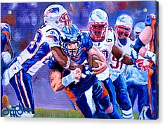 Stopping Tebow Acrylic Print by Donovan Furin