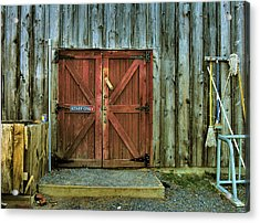 Storage Shed Acrylic Print by Steven Ainsworth