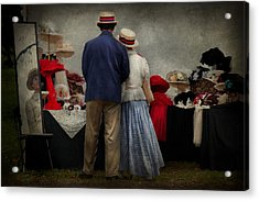 Store - The Hat Stand  Acrylic Print by Mike Savad
