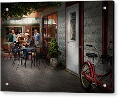 Storefront - Frenchtown Nj - At A Quaint Bistro  Acrylic Print by Mike Savad