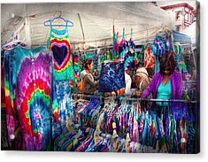 Storefront - Tie Dye Is Back  Acrylic Print by Mike Savad
