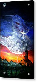 Storm Against Christianity Acrylic Print by Leslie Hoops-Wallace