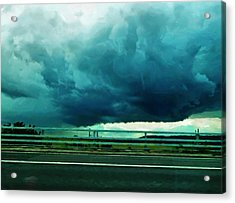 Acrylic Print featuring the digital art Storm Approaching  by Steve Taylor