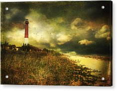 Storm At Barnegat Lighthouse Acrylic Print