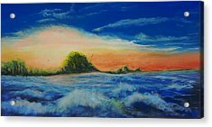 Storm At Low Sun Acrylic Print by Peter Jackson