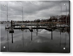 Storm Brewing In The Early Season Acrylic Print by Karol Livote